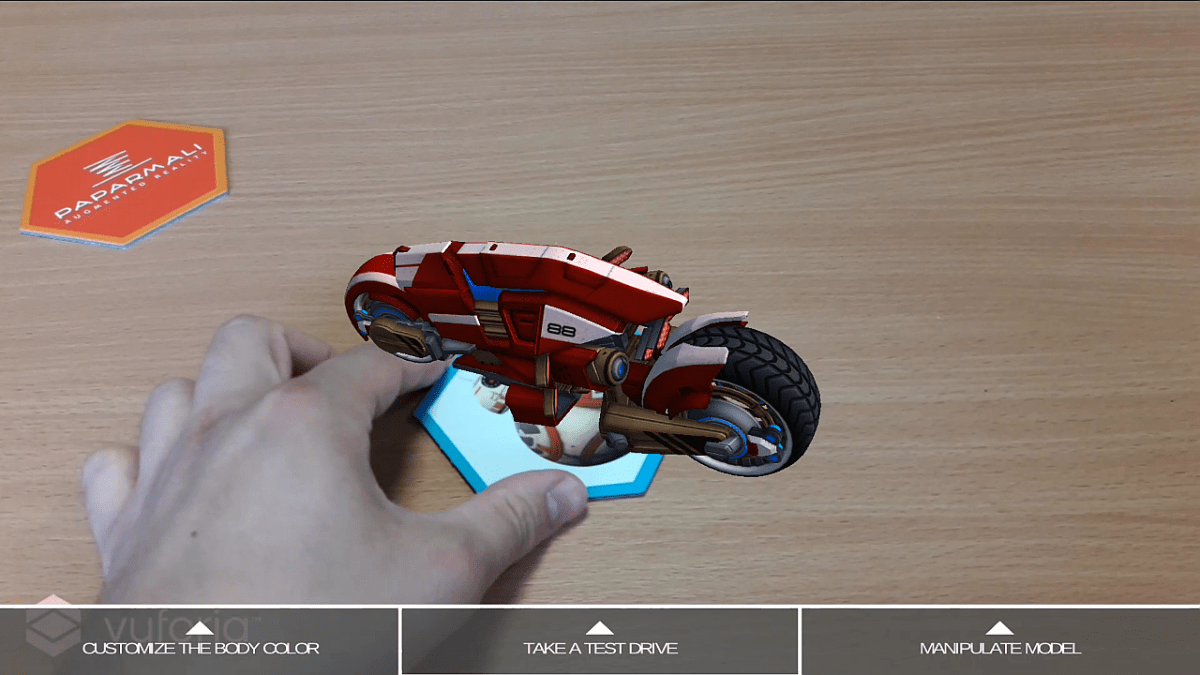 Augmented Reality Vespa User Interface - Mimic No. 1